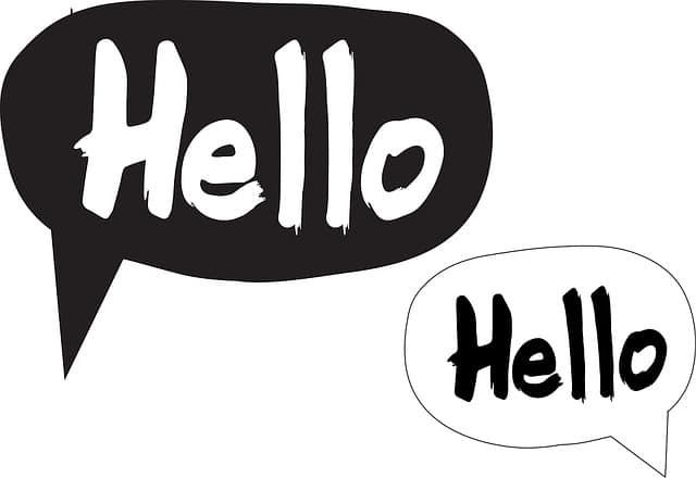 The importance of saying hello.